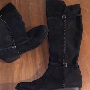 Ivanka trump suede black boots woman's size 8.5